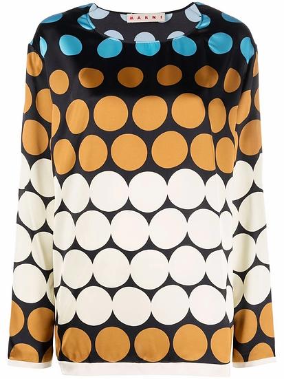 Marni - printed blouse