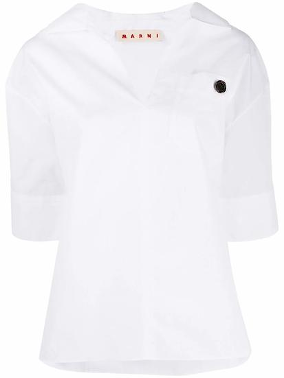 Marni - t-shirt cuello V