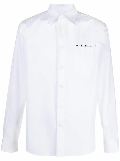 Marni - camisa logo bolsillo