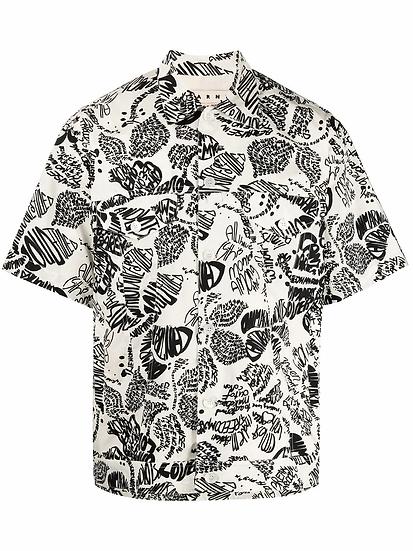 Marni - camisa estampado texto