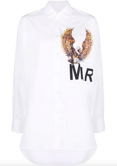 MM6 Maison Margiela - Camisa con logo estampado