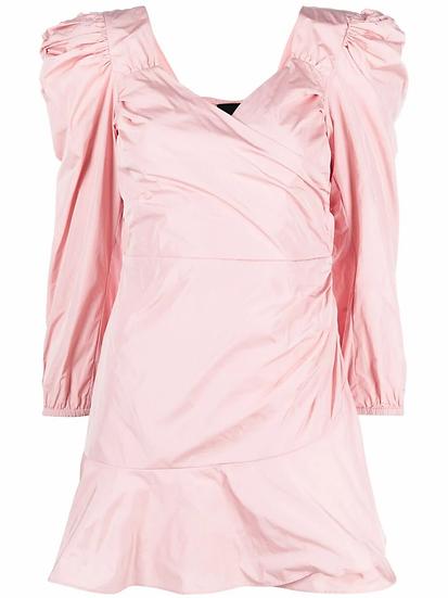 Red Valentino - vestido corto mangas abullonadas