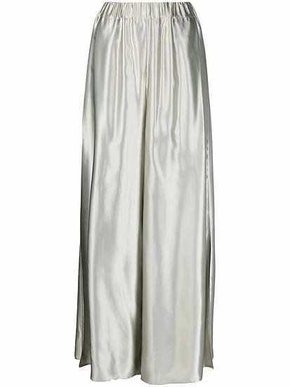 MM6 Maison Margiela - pantalón ancho metalizado