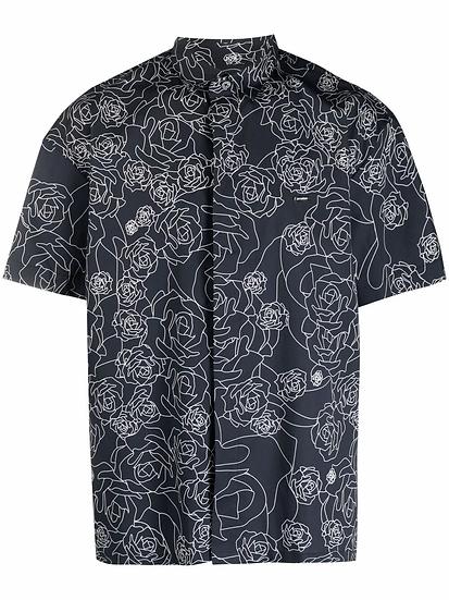 Les Hommes - camisa estampado floral