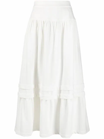 High-waisted flared skirt