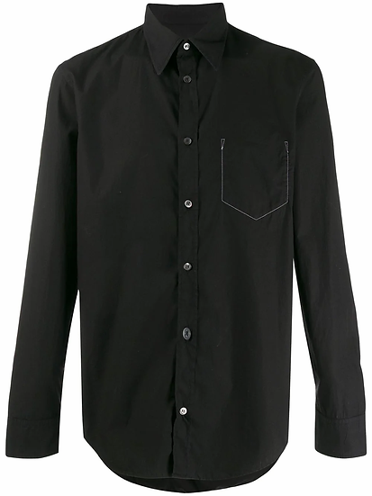 Maison Margiela - camisa bolsillo costuras