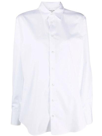 Maison Margiela - button-down poplin shirt