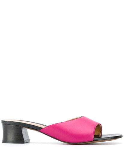 Fuchia slip-on sandals