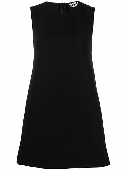 Versace Jeans Couture - vestido recto logo bordado