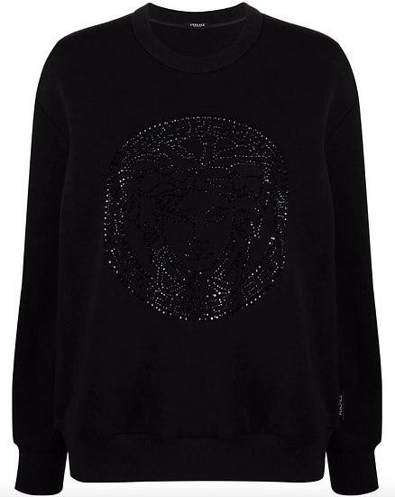 Versace - Medusa sweatshirt with crystal detail