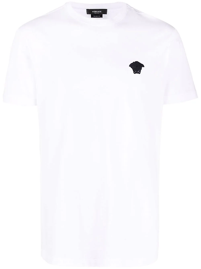 Versace - camiseta con bordado Medusa