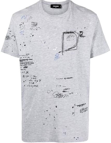 Dsquared2 - camiseta con motivo de garabatos