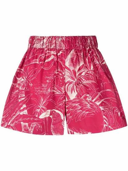 Red Valentino - short estampado tropical