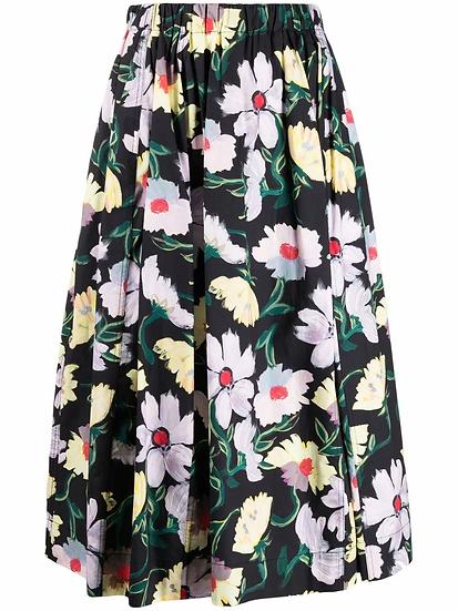 Marni - falda vuelo midi floral