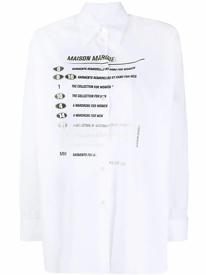 MM6 Maison Margiela - camisa estampada