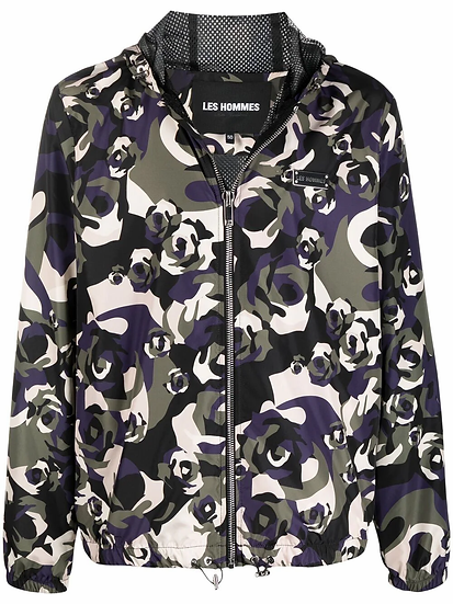 Les Hommes - military motif jacket
