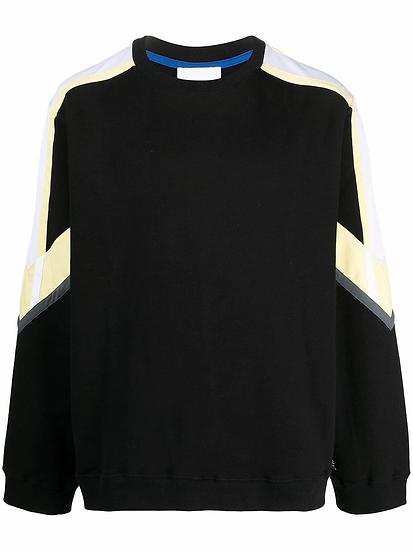 Color Block Paneled Sweatshirt