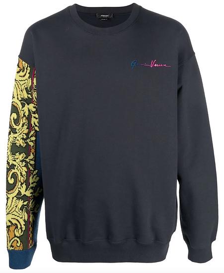 Versace - sweatshirt with GV logo print