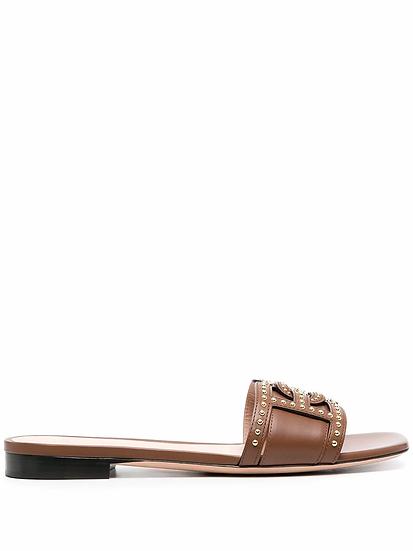 Appliqued sandals