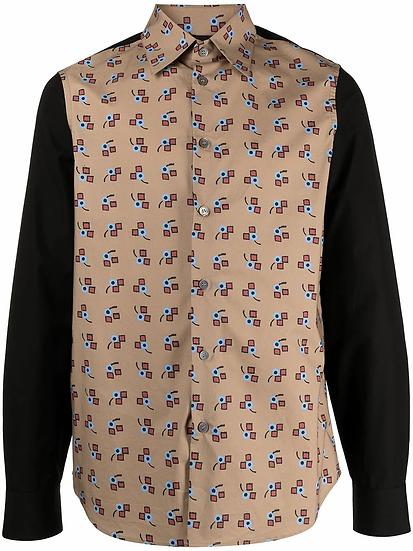Marni - camisa a paneles con contraste