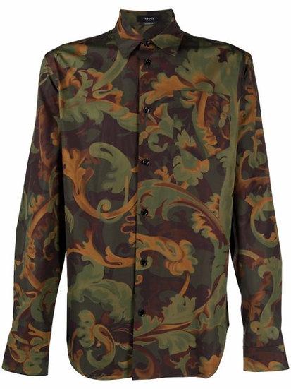 Versace - camisa con estampado Baroccoflage