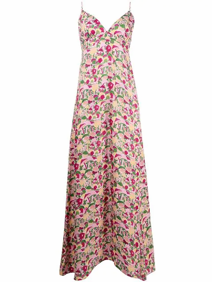 M Missoni - vestido con setas estampadas