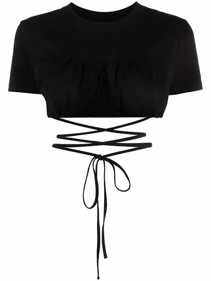 Black cross blouse