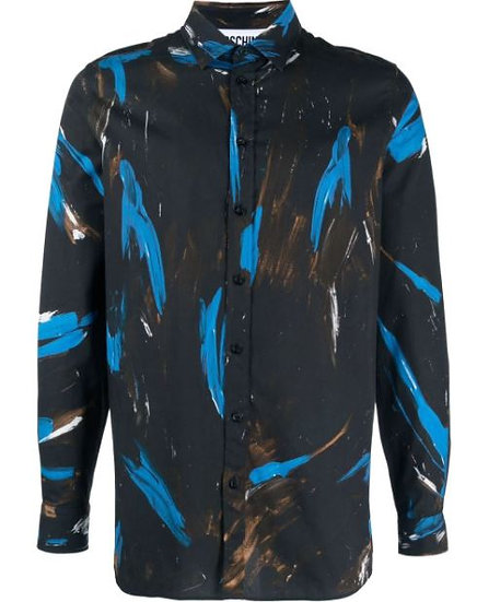 Moschino - shirt with paint details