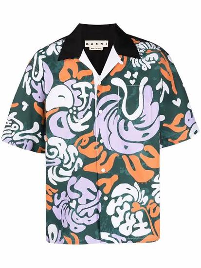 Marni - camisa estampado gráfico