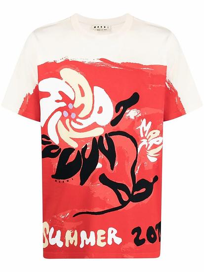 Marni - T-shirt estampado