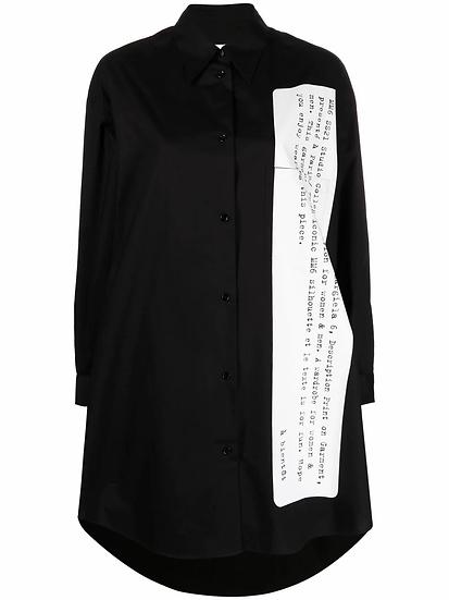 MM6 Maison Margiela - camisa larga estampada