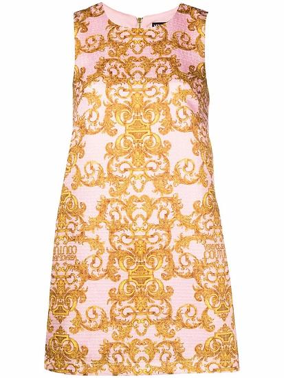 Versace Jeans  Couture -  vestido estampado barroco
