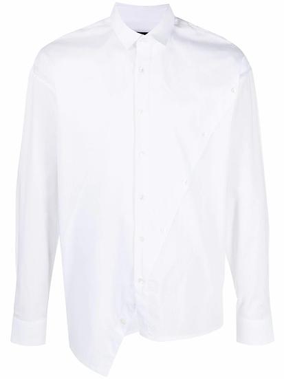 Les Hommes - camisa asimétrica