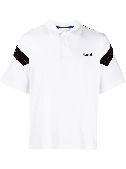 Contrast stripe polo shirt