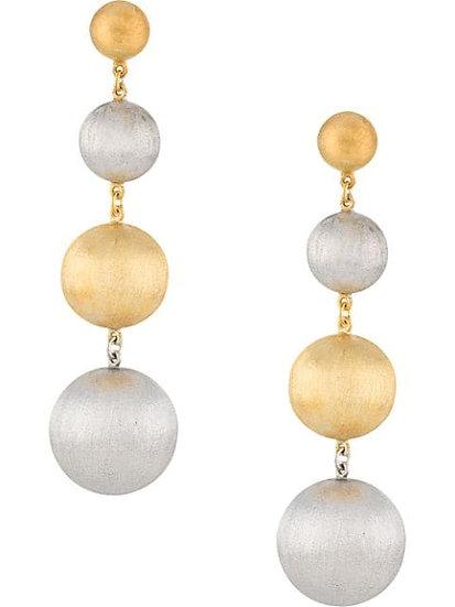 Polished effect ball earrings