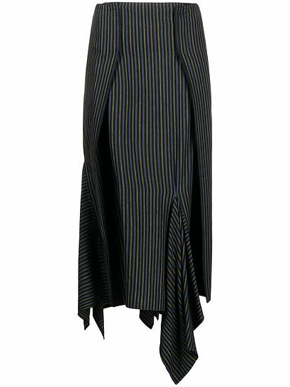 MM6 Maison Margiela - falda midi asimétrica