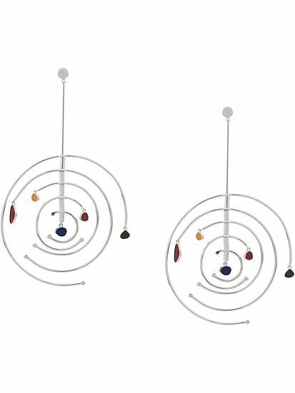 Ooak - pendientes con diseño circular