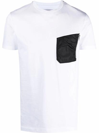 Les Hommes - t-shirt asimétrica paneles