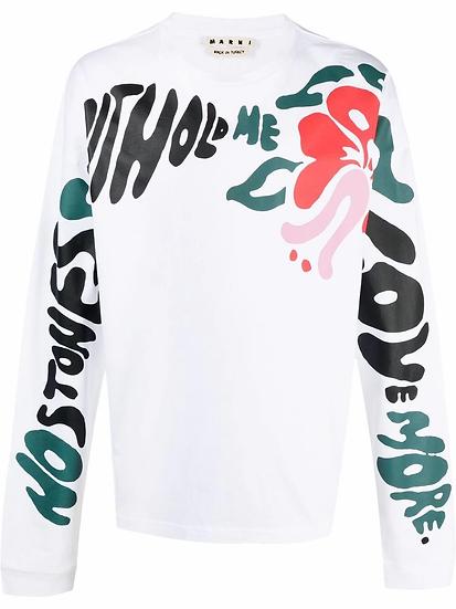 Marni - t-shirt estampado floral