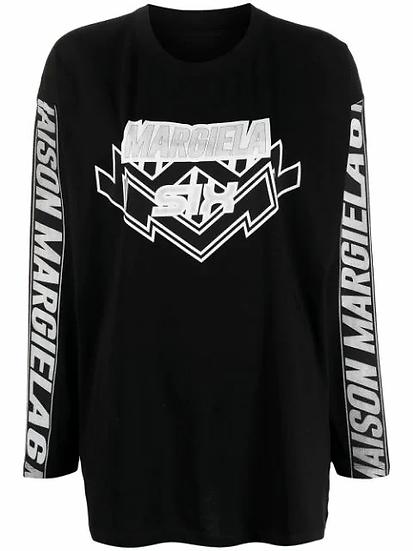 MM6 Maison Margiela - t-shirt manga larga estampada