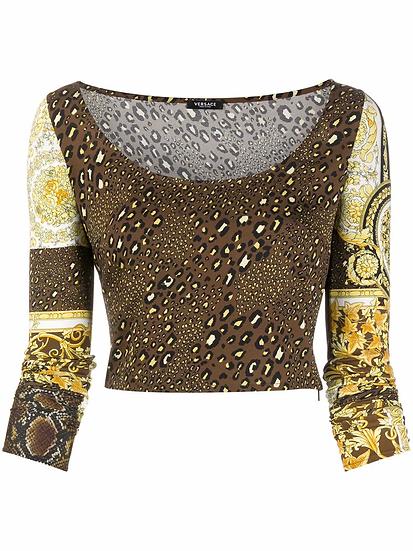 Versace - t-shirt estampado barroco