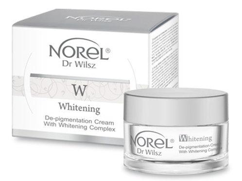 De-pigmentation cream with whitening complex