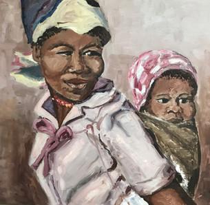 Xhosa Mama - painted during Apartheid years