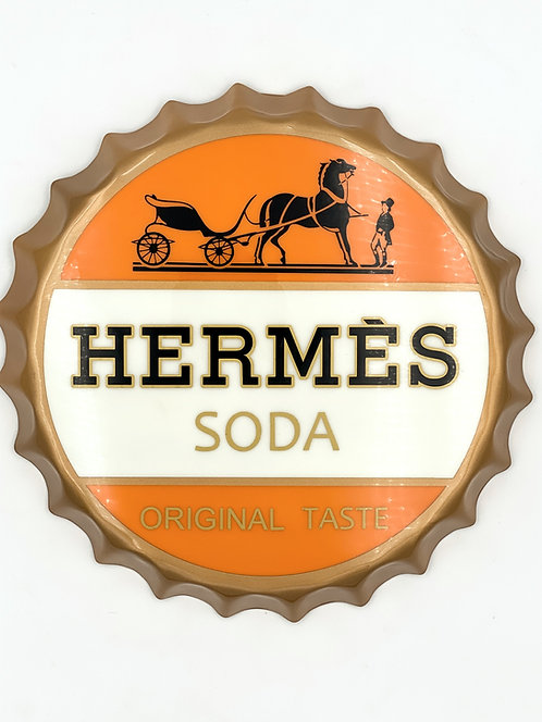 HERMÈS SODA CAP - large bottle cap - by S2B