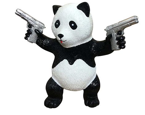 PEACE PANDA - silver gun