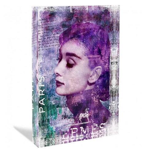 HEPBURN - Glas-Acryl-Block - limited  - by Devin Miles