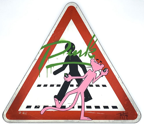 "THE PINK PAINTER 94 ""ATTENTION CROSSING"" - Truteau"