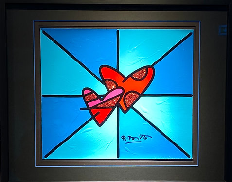 LOVE LOVE - Romero Britto - unikat - only one in the world