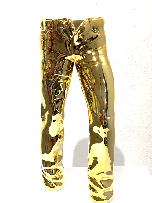FLASHY JEANS STANDS FREE in gold - by nWL-weareART