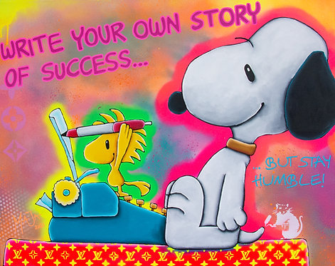 WRITE YOUR OWN STORY - artmaja - original / unikat